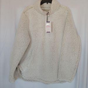Cream Sherpa Pullover